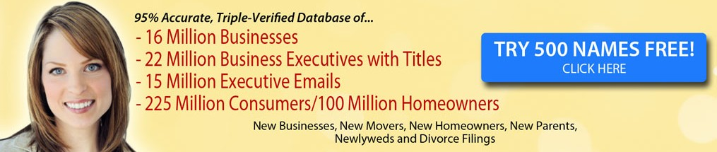 New Business Lists, Mailing Lists, Database, Email Lists