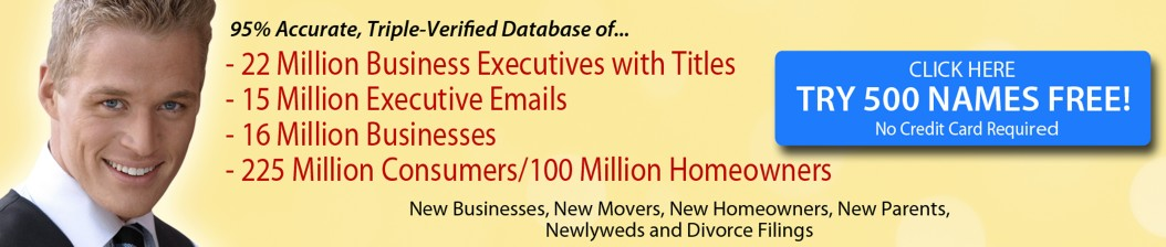 Database, Email Lists, Mailing Lists, Business Lists, Consumer Lists